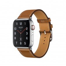 Часы Apple Watch Hermès Series 4 GPS + Cellular, 40mm Stainless Steel Case with Fauve Barenia Leather Single Tour